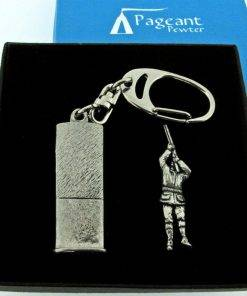Shooter Keyring Gift Set - high quality pewter gifts from Pageant Pewter