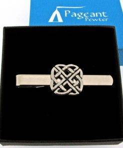 Celtic Knot Tie Clip - high quality pewter gifts from Pageant Pewter