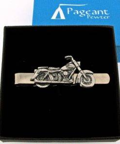Classic Motorbike Tie Clip - high quality pewter gifts from Pageant Pewter
