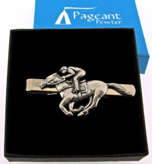 Race Horse Tie Clip - high quality pewter gifts from Pageant Pewter