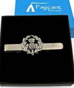 Thistle Tie Clip - high quality pewter gifts from Pageant Pewter
