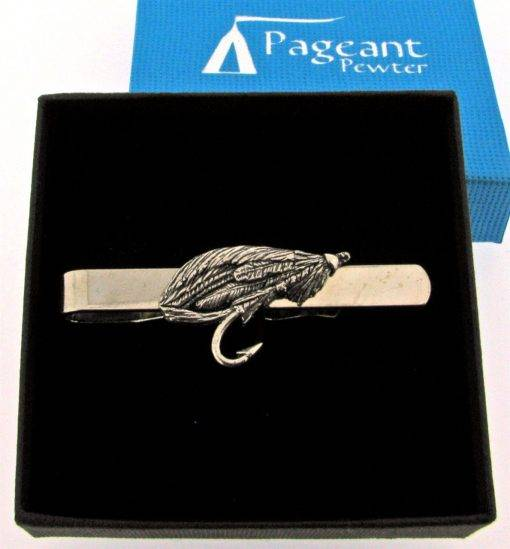 Salmon Fly Tie Clip - high quality pewter gifts from Pageant Pewter