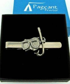 Mask and Snorkel Tie Clip - high quality pewter gifts from Pageant Pewter