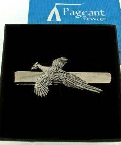 Pheasant Tie Clip - high quality pewter gifts from Pageant Pewter