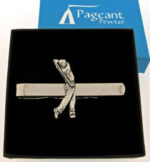 Golfer Tie Clip - high quality pewter gifts from Pageant Pewter