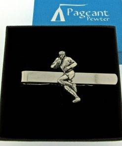 Rugby Player Tie Clip - high quality pewter gifts from Pageant Pewter
