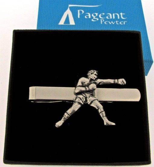 Boxer Tie Clip - high quality pewter gifts from Pageant Pewter
