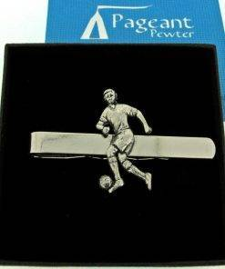 Football Player Tie Clip - high quality pewter gifts from Pageant Pewter