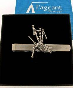 Bagpipes Tie Clip - high quality pewter gifts from Pageant Pewter