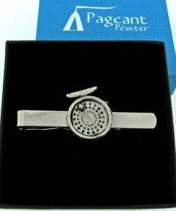 Fishing Reel Tie Clip - high quality pewter gifts from Pageant Pewter