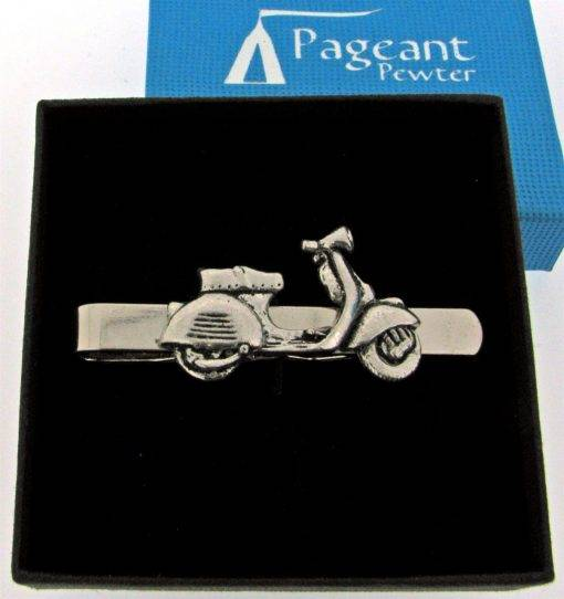 Scooter V Tie Clip - high quality pewter gifts from Pageant Pewter