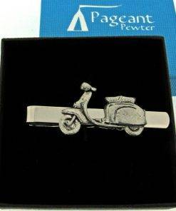 Scooter L Tie Clip - high quality pewter gifts from Pageant Pewter