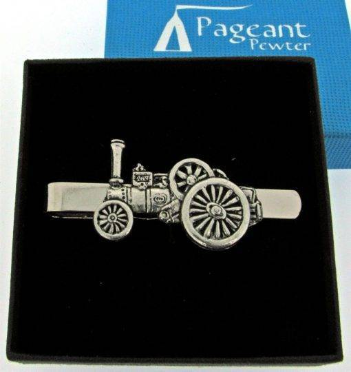 Traction Engine Tie Clip - high quality pewter gifts from Pageant Pewter