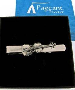 Violin Tie Clip - high quality pewter gifts from Pageant Pewter