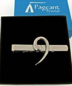 Bass Clef Tie Clip - high quality pewter gifts from Pageant Pewter
