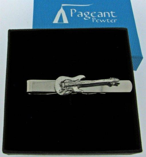 Electric Guitar Tie Clip - high quality pewter gifts from Pageant Pewter