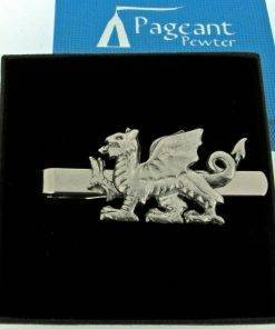 Welsh Dragon Tie Clip - high quality pewter gifts from Pageant Pewter