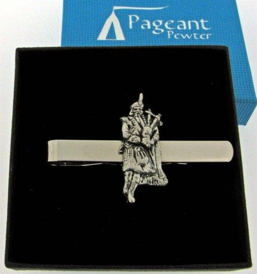 Piper Tie Clip - high quality pewter gifts from Pageant Pewter