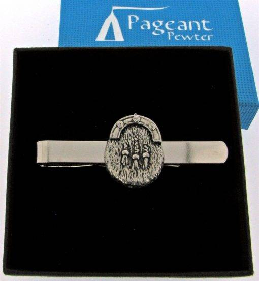 Sporran Tie Clip - high quality pewter gifts from Pageant Pewter