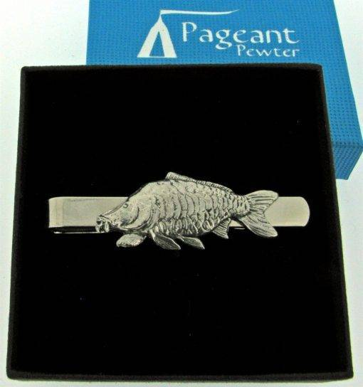 Carp Tie Clip - high quality pewter gifts from Pageant Pewter