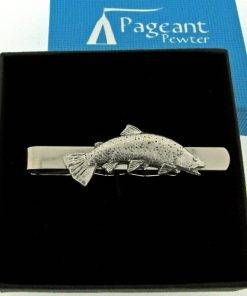 Trout Tie Clip - high quality pewter gifts from Pageant Pewter
