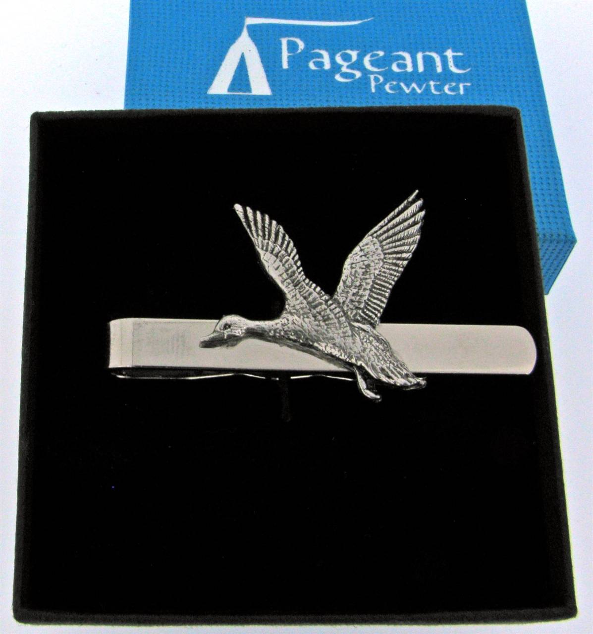 Mallard Tie Clip - high quality pewter gifts from Pageant Pewter