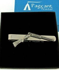 Shotgun Tie Clip - high quality pewter gifts from Pageant Pewter