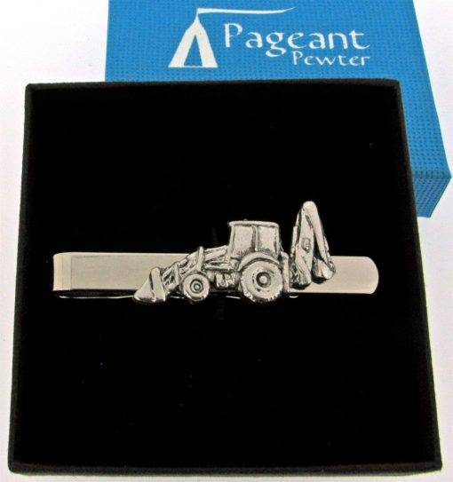 Excavator Tie Clip - high quality pewter gifts from Pageant Pewter
