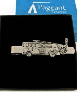 Fire Engine Tie Clip - high quality pewter gifts from Pageant Pewter