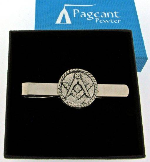 Masonic Tie Clip - high quality pewter gifts from Pageant Pewter