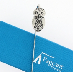 Owl Bookmark - high quality pewter gifts from Pageant Pewter