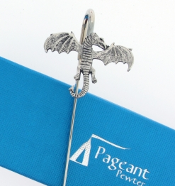 Dragon Bookmark - high quality pewter gifts from Pageant Pewter