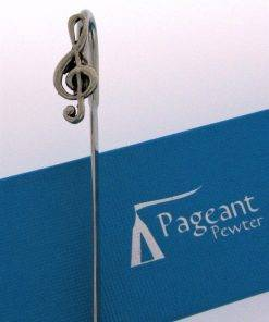 Treble Clef Bookmark - high quality pewter gifts from Pageant Pewter
