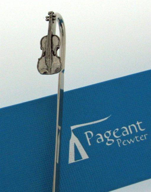Violin Bookmark - high quality pewter gifts from Pageant Pewter