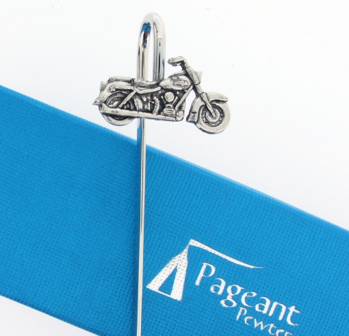 Motorbike Bookmark - high quality pewter gifts from Pageant Pewter