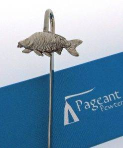 Carp Bookmark - high quality pewter gifts from Pageant Pewter