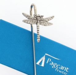 Dragonfly Bookmark - high quality pewter gifts from Pageant Pewter