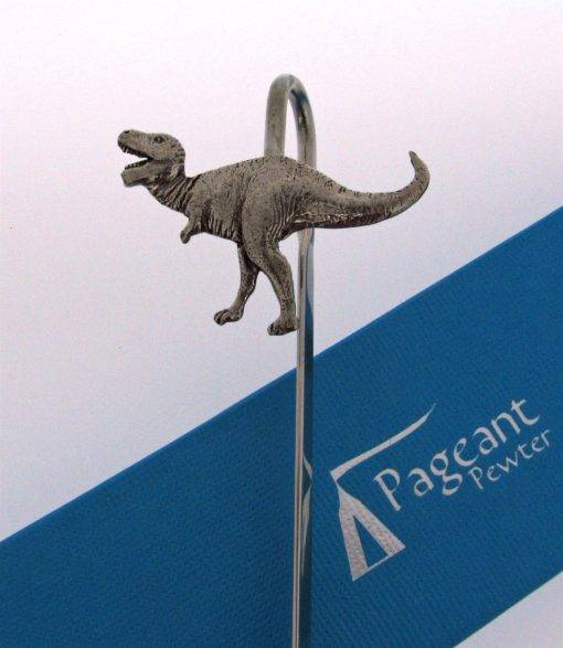 T Rex Dinosaur Bookmark - high quality pewter gifts from Pageant Pewter