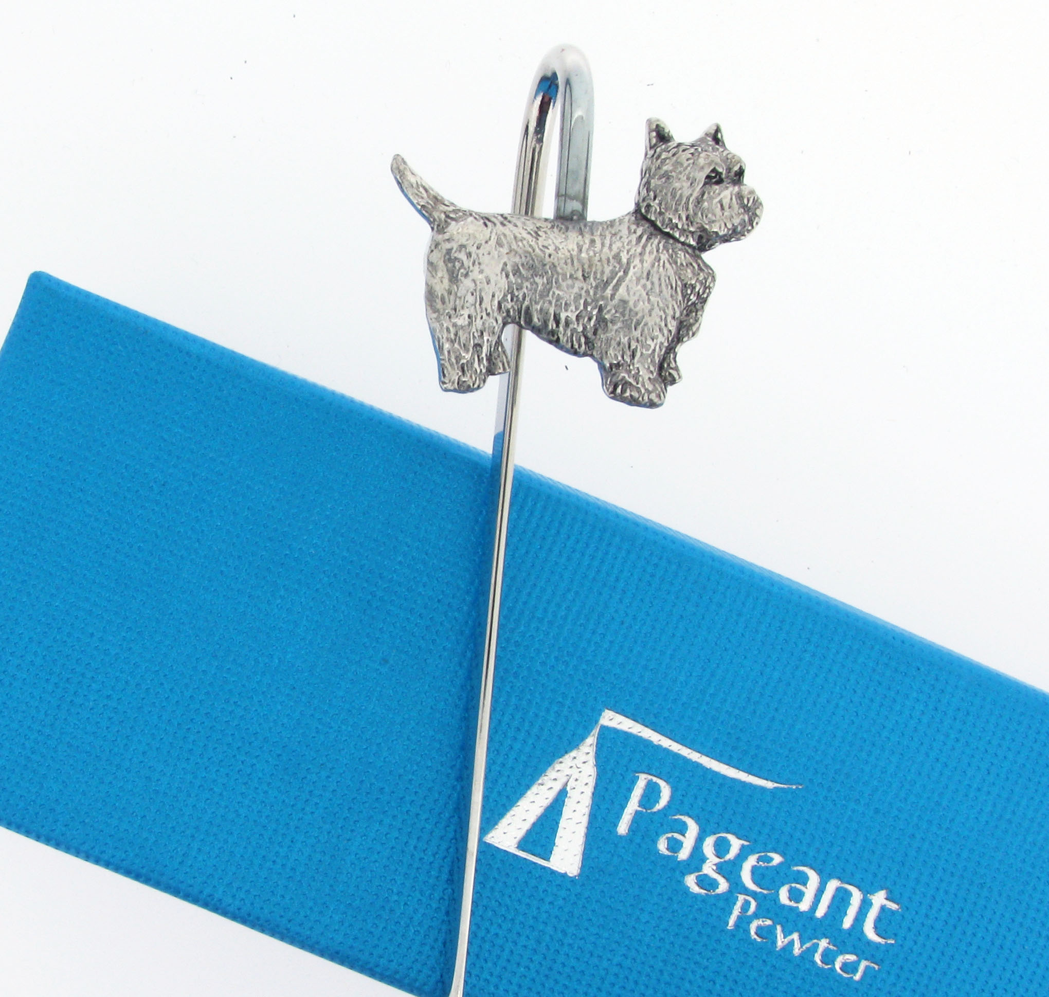 Westie Bookmark - high quality pewter gifts from Pageant Pewter