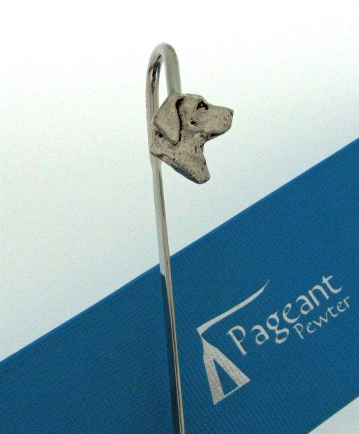 Labrador Head Bookmark - high quality pewter gifts from Pageant Pewter