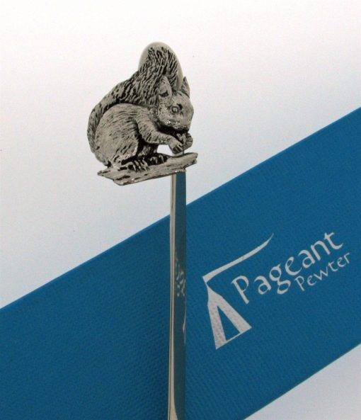 Squirrel Bookmark - high quality pewter gifts from Pageant Pewter