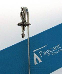 Ballerina Bookmark - high quality pewter gifts from Pageant Pewter