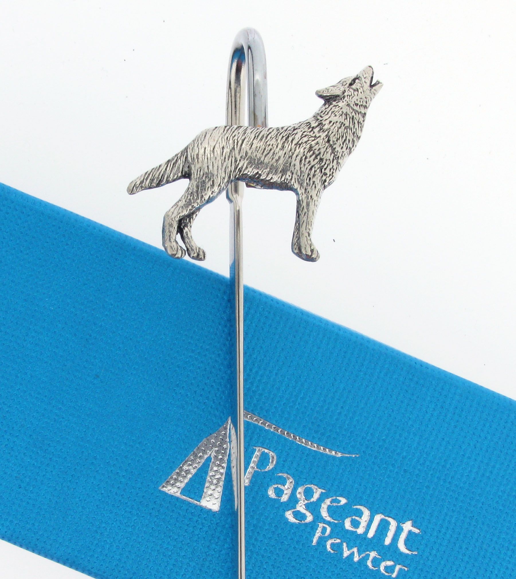 Wolf Bookmark - high quality pewter gifts from Pageant Pewter