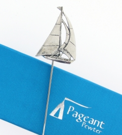 Yacht Bookmark - high quality pewter gifts from Pageant Pewter