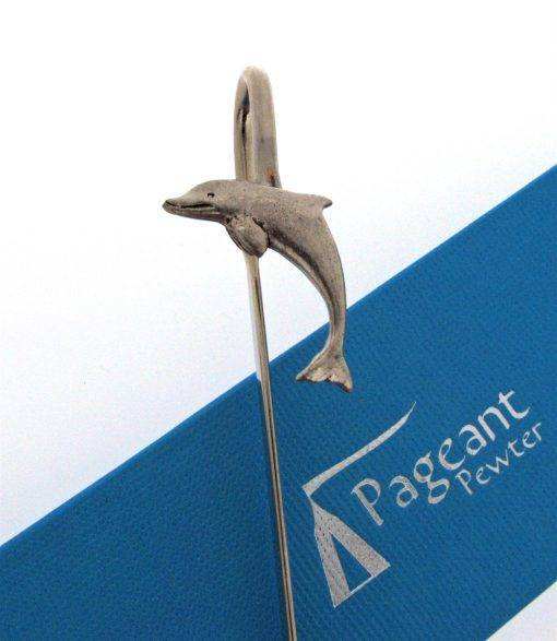 Dolphin Bookmark - high quality pewter gifts from Pageant Pewter