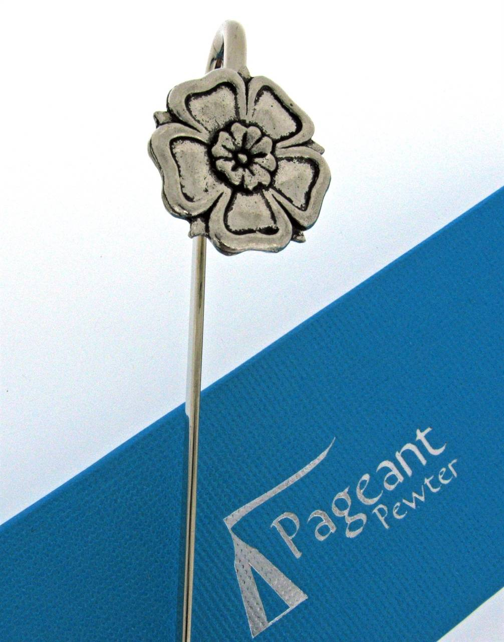 Yorkshire Rose Bookmark - high quality pewter gifts from Pageant Pewter