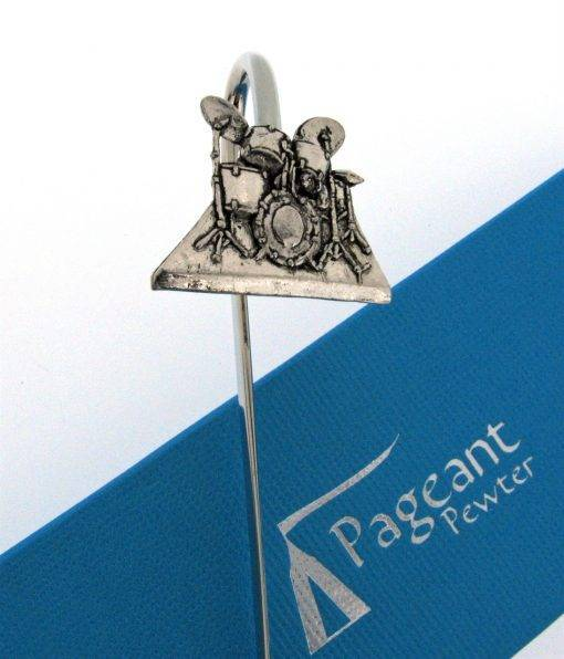 Drum Kit Bookmark - high quality pewter gifts from Pageant Pewter