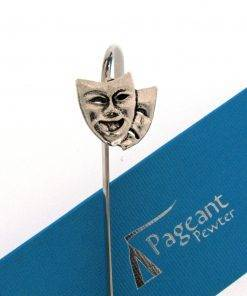 Theatrical Masks Bookmark - high quality pewter gifts from Pageant Pewter