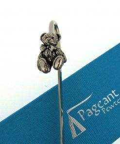 Teddy Bookmark - high quality pewter gifts from Pageant Pewter