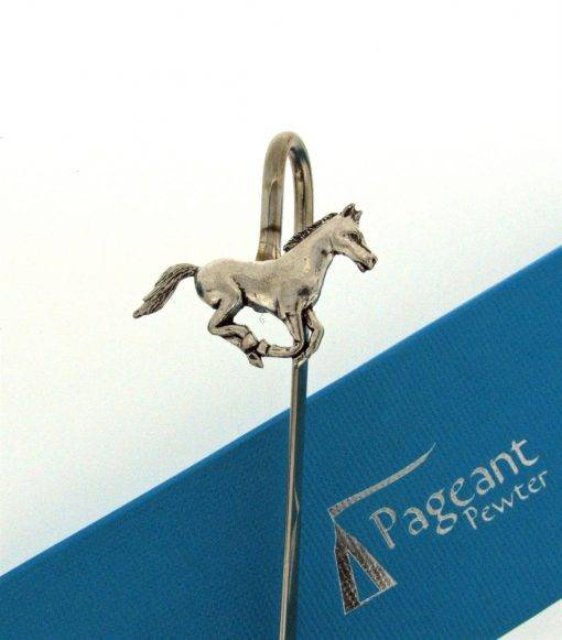Horse Bookmark - high quality pewter gifts from Pageant Pewter